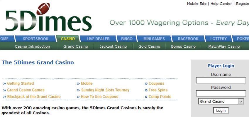 5dimes Casino Review 2020 1 Guide Live Casino Reports